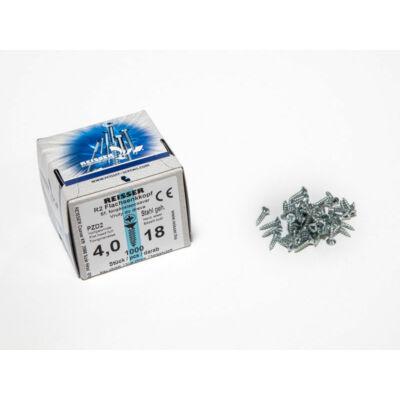 Forest Reisser facsavar 4x18mm Horgantyzott acél tövigmenetes 1000db/doboz 10007112210