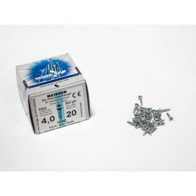 Forest Reisser facsavar 4x20mm Horgantyzott acél tövigmenetes 1000db/doboz 10007112215