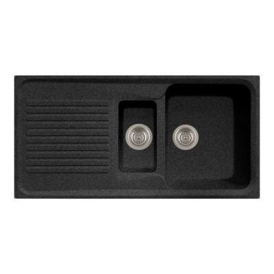 Forest Grawa PT4-9910N 1,5 medence + csepptálca fekete 10012150200